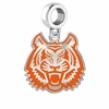 Idaho State Bengals Silver Logo and School Color Drop Charm