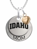 Idaho Vandals MOM Necklace with Heart Charm