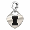 Illinois Engraved Heart Dangle Charm