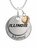 Illinois Fighting Illini Alumni Necklace with Heart Accent