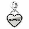 Illinois Fighting Illini Border Heart Dangle Charm