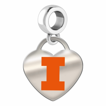 Illinois Fighting Illini Color Heart Dangle