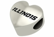 Illinois Fighting Illini Heart Shape Bead