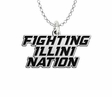 Illinois Fighting illini Spirit Mark Charm