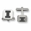 Illinois Fighting Illini Stainless Steel Cufflinks
