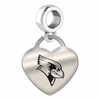 Illinois State Engraved Heart Dangle Charm