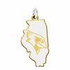 Illinois State Red Birds Cutout Logo Charm