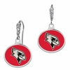Illinois State Red Birds Enamel CZ Cluster Earrings