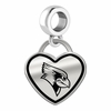 Illinois State Redbirds Border Heart Dangle Charm