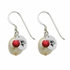 Illinois State Redbirds Color and Freshwater Pearl Earrings