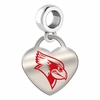 Illinois State Redbirds Color Heart Dangle