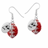 Illinois State Redbirds Crystal Football Earrings