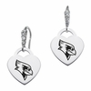 Illinois State Redbirds CZ Cluster Heart Earrings