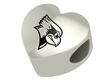 Illinois State Redbirds Heart Shape Bead