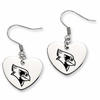 Illinois State Redbirds Heart Earrings