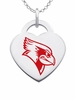 Illinois State Redbirds Logo Heart Pendant With Color