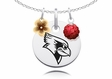 Illinois State Redbirds Necklace with Flower Charm