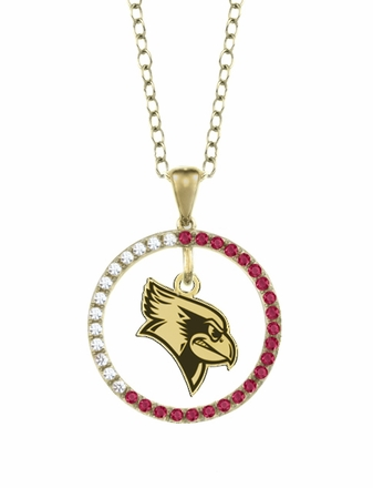 Illinois State Redbirds Ruby and Diamond Necklace