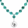 Illinois State Redbirds Turquoise Heart Necklace