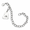 Illinois State Stainless Steel Bracelet Heart Charm