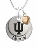 Indiana Hoosiers Alumni Necklace with Heart Accent
