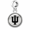 Indiana Hoosiers Border Round Dangle Charm