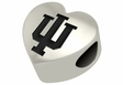 Indiana Hoosiers Heart Shape Bead