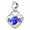 Indiana State Sycamores Color Heart Dangle