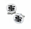 Indiana State Sycamores Cufflinks Stainless Steel Round Top