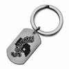 Indiana State Sycamores Stainless Steel Key Ring