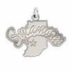 Indiana State Sycamores Natural Finish Charm