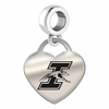 Indianapolis Engraved Heart Dangle Charm
