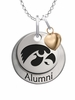Iowa Hawkeyes Alumni Necklace with Heart Accent