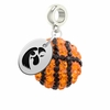 Iowa Hawkeyes Crystal Drop Charm