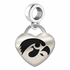 Iowa Engraved Heart Dangle Charm