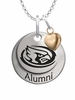 Iowa State Cyclones Alumni Necklace with Heart Accent