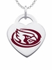 Iowa State Cyclones Logo Heart Pendant With Color