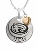 Iowa State Cyclones MOM Necklace with Heart Charm