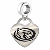 Iowa State Engraved Heart Dangle Charm