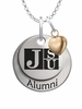 Jackson State Tigers Alumni Necklace with Heart Accent