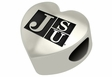 Jackson State Tigers Heart Shape Bead
