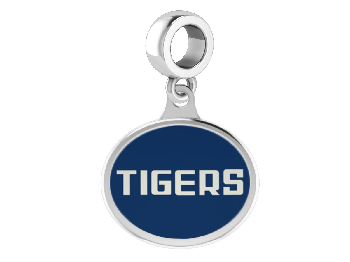 934afc03543a1 Wholesale Jackson State Tigers Silver Enamel Drop Fits Beaded Charm ...