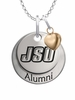 Jacksonville State Gamecocks Alumni Necklace with Heart Accent
