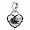 Jacksonville State Gamecocks Border Heart Dangle Charm
