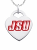 Jacksonville State Logo Heart Pendant With Color