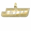 James Madison Dukes 14K Yellow Gold Natural Finish Cut Out Logo Charm