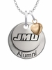 James Madison Dukes Alumni Necklace with Heart Accent