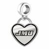James Madison Dukes Border Heart Dangle Charm