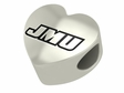 James Madison Dukes Heart Shape Bead