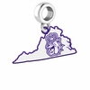 James Madison Dukes Logo Dangle Charm